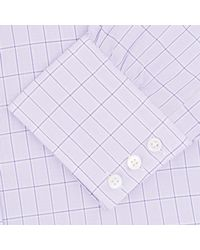 Turnbull & Asser | Pink Lilac Check Cotton Shirt With Classic T&a Collar for Men | Lyst