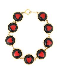 Moschino | Black Hearts Cabochons Necklace | Lyst