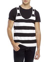 Moschino - Black Stripe Tank Tee for Men - Lyst