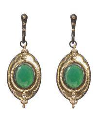 Armenta Old World Green Onyx Diamond Drop Earrings