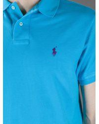 Polo Ralph Lauren Blue Polo Shirt for men