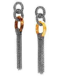 INC International Concepts | Metallic Hematite-tone Link Linear Drop Earrings | Lyst