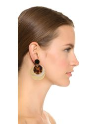 Tory Burch - Metallic Disc Layered Earrings - Lyst