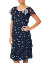 Jacques Vert Multicolor Brushstroke Spot Dress