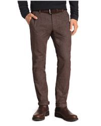 BOSS Orange - Brown Cotton-blend Chinos 'sairy8-w' for Men - Lyst