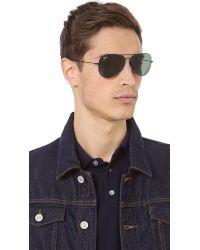 Ray-Ban | Black Thin Aviator Sunglasses for Men | Lyst