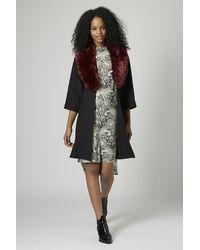 TOPSHOP Multicolor Paisley Print Tunic Dress