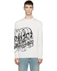 Alexander McQueen | White Ivory Knit Best Skulls Sweater for Men | Lyst