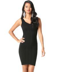 Bebe Black Textured Sweetheart Dress