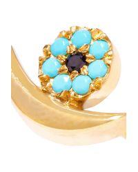 Iam By Ileana Makri | Metallic Moon Eye Gold-plated Cubic Zirconia Ring | Lyst