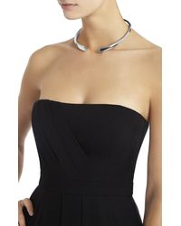 BCBGMAXAZRIA - Metallic Faceted Collar Necklace - Lyst