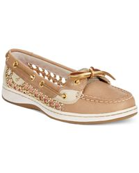 Sperry Top-Sider Brown Women's Angelfish Cane Woven Boat Shoes
