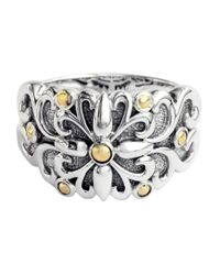 Lord & Taylor - Metallic Balissima Sterling Silver With 18kt. Yellow Gold Flower Ring - Lyst