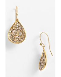 Alexis Bittar | Metallic 'miss Havisham' Crystal Encrusted Teardrop Earrings | Lyst