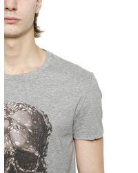 Alexander McQueen   Gray Victorian Skull T-Shirt for Men   Lyst