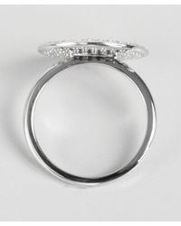 KC Designs | White Gold And Diamond Circle Ring | Lyst