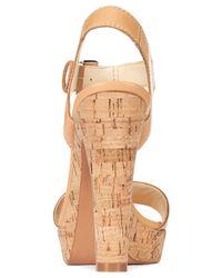 Nine West Natural Elenny High Heel Platform Sandals