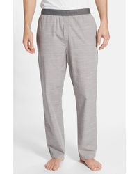 Calvin Klein - Gray Chambray Lounge Pants for Men - Lyst