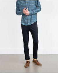 Zara | Blue Chinos for Men | Lyst