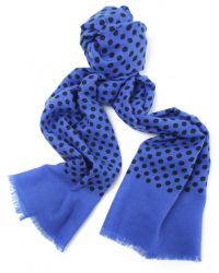 Jules B - Blue Polka Dot Wool Scarf for Men - Lyst