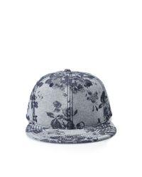 Forever 21 Gray Floral-patterned Snapback Hat for men