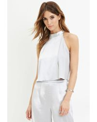 Forever 21 | Metallic Contemporary Sheeny Layered Top | Lyst