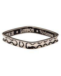 Vivienne Westwood - Black Squiggle Bangle - Lyst