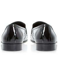Dune Black Runway Patent Loafers for men