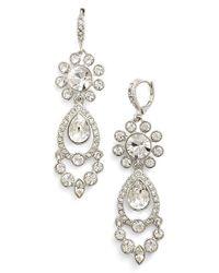 Givenchy - Metallic Crystal Drop Earrings - Lyst