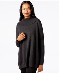 Eileen Fisher | Gray Turtleneck Tunic Sweater | Lyst