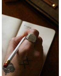 Free People | Metallic Souvenir Jewelry Womens Born Free Signet Ring | Lyst
