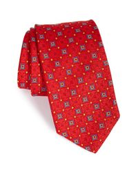 Robert Talbott | Red Geometric Silk Tie for Men | Lyst