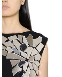 Loewe Black Mirror-Embellished Cotton Midi Dress
