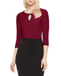 Vince Camuto | Purple Hardware-accented Keyhole Top | Lyst