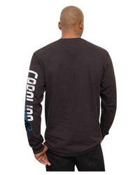 Junk Food Black Men's Long-sleeve Carolina Panthers Top Shelf T-shirt for men