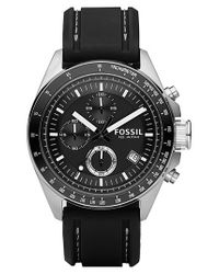 Fossil Black Chronograph Tachymeter Watch for men