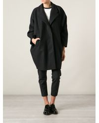 MM6 by Maison Martin Margiela - Gray Cape Style Coat - Lyst