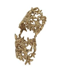 Bernard Delettrez | Metallic Gold Tone Articulated Ring | Lyst