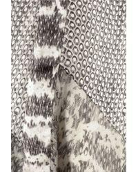 Jason Wu Gray Snake Print Silk Satin and Chiffon Skirt