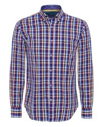 Paul And Shark Multicolor Check Shirt for men