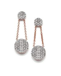 Phillips House - Pink Affair Diamond & 14K Rose Gold Infinity Double-Drop Earrings - Lyst
