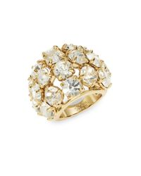 Trina Turk | Metallic Crystal Goldtone Dome Ring | Lyst