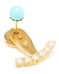 Yvonne Léon | Metallic Mini Diamond Lobe Earring | Lyst