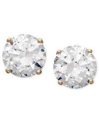 Arabella | Metallic Swarovski Zirconia Round Stud Earrings (3-1/2 Ct. T.w.) | Lyst