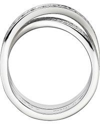 Cartier | Metallic Lignes 18ct White-gold And Diamond Ring | Lyst