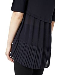 Great Plains - Blue Easy Mix Pleat Detail Top - Lyst