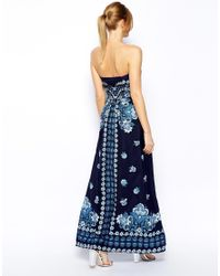 Oasis - Blue China Print Maxi Dress - Lyst