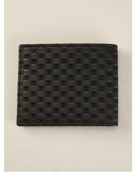 Emporio Armani Black Woven Wallet for men