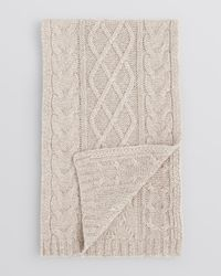 Bloomingdale's Natural Lattice Cable Scarf for men