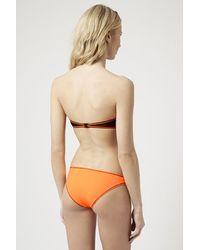 TOPSHOP - Black Contrast Stitch Neon Bikini Set - Lyst